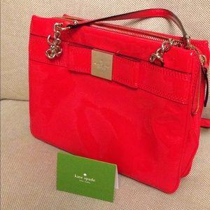 Kate Spade red patent leather handbag